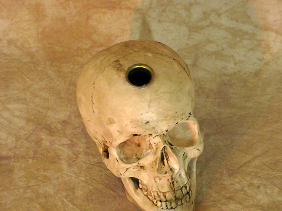 Skull Candle Display, Life-Size Skull