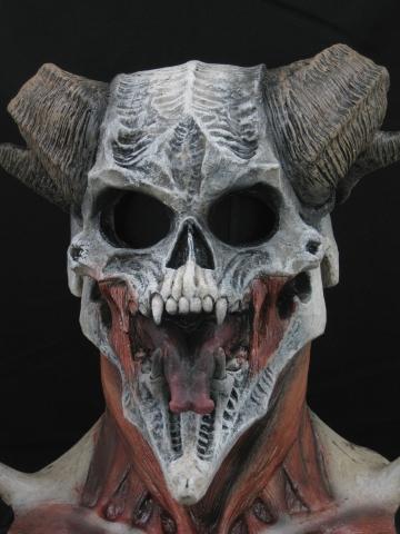 devil skull halloween mask or prop