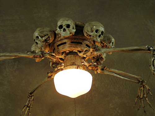 Ceiling Fan With Skeleton Arms Skulls And Light Fan 200 259 95