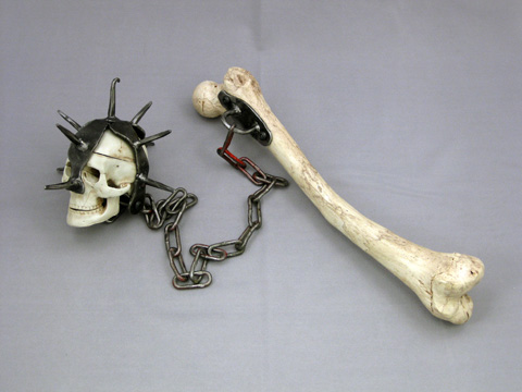 femur bone weapon flail ball skeletons and more