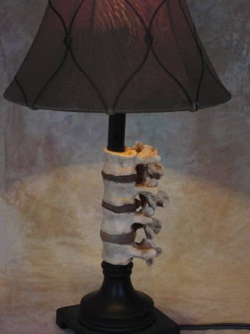 Desk Lamp with Spine and Antique shade