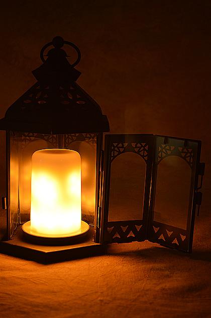 "LIOWN Wildfire Flameless 10"" tall Lantern"