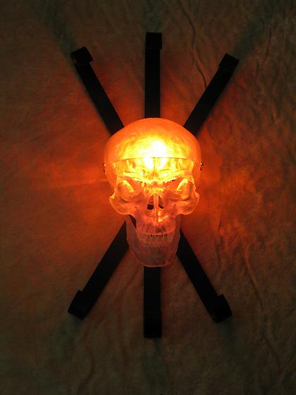 Halloween Wall Lights : Clear Skull Wall Sconce, Halloween Prop Human Skulls/Skeleton, NEW eBay