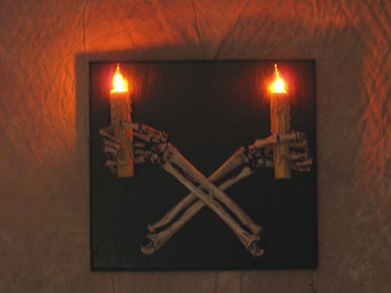 Skeleton Arms Wall Sconce, Skull, Halloween Prop eBay