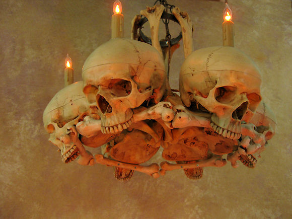 Life size skullhip bone chandelier w six skulls skeletons and more life size skullhip bone chandelier w six skulls click image to aloadofball Image collections