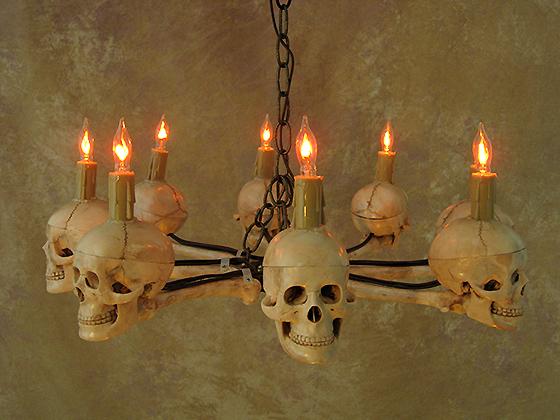 Eight Medium Skulls in Wagon Wheel Design